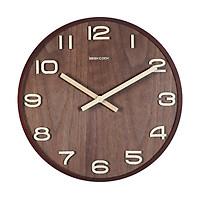 Đồng hồ treo tường gỗ cao cấp GeekCook - Dạng kim trôi, khung viền nguyên khối