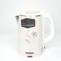 Ấm siêu tốc Matika MTK-24 (màu trắng)  - Hàng Chính Hãng