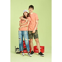 Áo thun trơn 210g/m2 cotton Ring Spun 100% color Papaya Orange no17 form Young Asian Local Brand tee retail wholesale VN