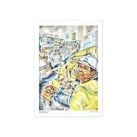 Tranh Poster Đường phố Sài Gòn | Giờ cao điểm | Soyn SG2402