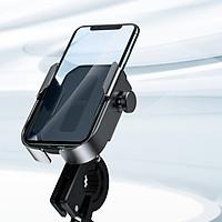 Giá đỡ điện thoại dành cho xe đạp, xe máy có thể điều chỉnh gắn tay lái hoặc gương Baseus - Hàng chính hãng