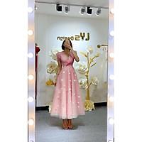 Đầm xoè dự tiệc cổ V tay ngắn kết cườm TRIPBLE T DRESS - size M/L (kèm ảnh/video thật) MS120Y