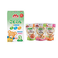 Sữa Morinaga số 3 hương Vani (Kodomil) 216g cho bé từ 3 tuổi + Tặng Mì ăn dặm Hakubaku 100gr (ngẫu nhiên)