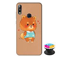 Ốp lưng điện thoại Asus Zenfone Max Pro M2 hình Gấu Bông tặng kèm giá đỡ điện thoại iCase xinh xắn - Hàng chính hãng