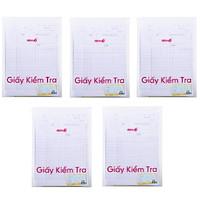 Bộ 5 Giấy kiểm tra Điểm 10 TP-GKT02 4 ô ly vuông