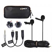 Cặp micro cài áo cho Camera, Gopro, Smartphone COMICA CVM-D02 - Hàng Chính Hãng