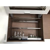 Kệ úp chén dĩa 3 tầng inox SS304 chính hãng Romatek cho tủ bếp trên