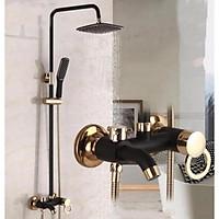 Vòi sen tắm đứng nóng lạnh cao cấp Euro Quality K34 (Đen viền vàng)... Hàng mới !!!!