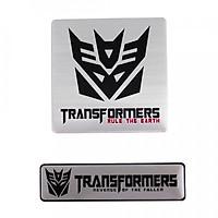 Set 2 sticker metal hình dán - Transformer Rule The Earth