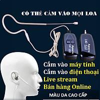 Micro không dây gài tai Aporo 2.4G hạt gạo cao cấp siêu nhỏ, mic live stream bán hàng online kèm Micro thu âm mini thiết kế cài áo tiện dụng- Hàng chính hãng