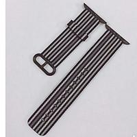 Dây đeo  Dành cho đồng hồ Apple Watch Woven Nylon - Sọc Kẻ Nâu 38/40mm