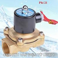 Van điện từ phi 21, điện áp 220 V, van ống nước, van nước điện tử