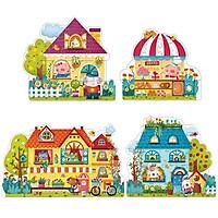 Mideer Ghép Hình 4 In 1 Puzzle - Chủ Đề Thị Trấn Cổ Tích - Fairy Town - MD3017