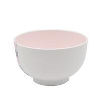 Bát nhựa tròn (cỡ trung) - Màu trắng lòng hồng
