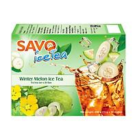 SAVO Ice Tea Bí Đao (Winter Melon Ice Tea) - Hộp 16 gói x 15g
