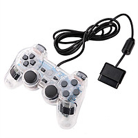 For Wired Gamepad Double Vibration Transparent Game Joystick Controller