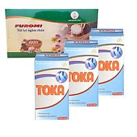 COMBO 3 HỘP Thực phẩm chức năng viên Bổ Xương Khớp TOKA hỗ trợ điều trị Viêm khớp, Thoái Hóa Khớp + 1 HỘP Túi lọc thảo dược Ngâm chân Tự nhiên - FUROMI - dành cho người đau Xương khớp, Gout