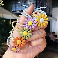 Dây cột tóc cho bé Trend Hoa Cúc siêu dễ thương Hàn Quốc
