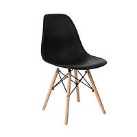 Ghế nhựa chân gỗ + Tặng set 5 ống hút tre Nhật Pháp