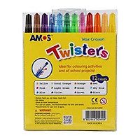 Bộ sáp 12 màu AMOS SILKY TWISTERS