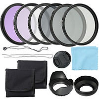 Professional Camera UV CPL FLD Lens Filters Kit and Altura Photo ND Neutral Density Filter Set Photography Accessories