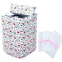 Vỏ bọc máy giặt cửa trên tặng kèm 3 túi lưới đựng quần áo máy giặt