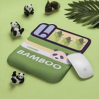 Lót chuột (Mouse Pad) Silicon 3D có đệm kê chống mỏi cổ tay hình Corgi, Mario, Bamboo - Hàng Nhập Khẩu