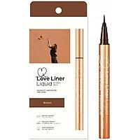 Bút Kẻ Viền Mắt Không Thấm Nước, Bền Màu, Lâu Trôi Love Liner Liquid Brown Màu Nâu