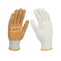 Găng tay dệt kim & có đốm chấm nhựa PVC INGCO HGVK05 (Size XL)