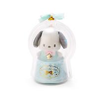 Sanrio Móc khóa búp bê trẻ em trang trí hình chú chó pacha, ngôi sao trong quả cầu thạch anh màu xanh bạc hà chủ đề Giáng sinh