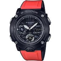Đồng hồ nam Casio dây nhựa G-SHOCK GA-2000E-4DR + 2 dây thay thế