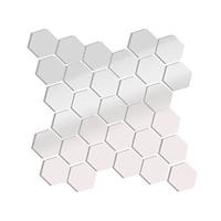 Gương Hiện Đại 3D Dán Tường Trong Phòng Ngủ Phòng Khách Thiết Kế Acrylic Lục Giác (12 Cái)