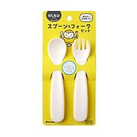 Bộ thìa nĩa nhựa cho bé nội địa Nhật Bản