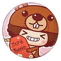 Gối Ôm Tròn Cô Bé Tóc Xù Cute Bear - GOCT120