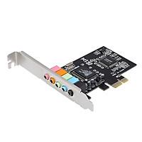 Card PCI-E Express 5.1 Âm Thanh Vòm 5 Cổng Cho Máy Tính Để Bàn, Màu Đen