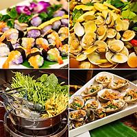 Buffet Tối Gánh Palace 4* - Buffet Tối Hơn 50 Món Hải Sản Cao Cấp Tại Phố Đi bộ Nguyễn Huệ Không Phụ Thu Cuối Tuần