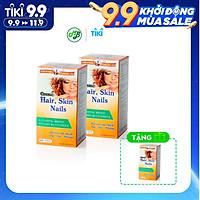 COMBO 2 CHAI TPCN COSME HAIR SKIN NAILS  kích thích mọc tóc nhanh, giúp cho chân tóc chắc khoẻ - Chai 60 viên TẶNG 1 CHAI