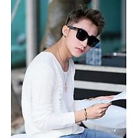 Mắt kính nam vuông thời trang Hàn Quốc - Phong cách Sơn Tùng MTP - Chống bụi, chống chói phù hợp cho những chuyến đi xa