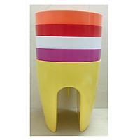 5 Chậu Kẹp Ban Công Trồng Hoa Cây Cảnh Nhiều Màu - ĐK 30.5 cm