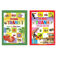 Combo sách Từ Điển Tranh Về Rau - Củ - Quả - Hoa và  Từ Điển Tranh Về Các Con Vật tặng cuốn sách kỹ năng giao tiếp bồi dưỡng trẻ 49 lễ nghi