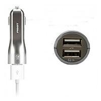 Sạc trên ô tô Pisen Dual USB Car Charger 1A/2A (smart) New - Hàng chính hãng