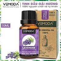Tinh dầu Oải hương cao cấp. Lavender Essential Oil 10ml. Tinh dầu xông phòng giúp thư giãn, giảm căng thẳng, khử mùi, nâng cao chất lượng giấc ngủ. Tinh dầu thơm phòng cao cấp Vemoda