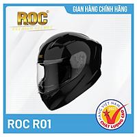 Mũ bảo hiểm Fullface ROC R01 Mạnh Mẽ, Cá Tính + Tặng kèm túi đựng nón