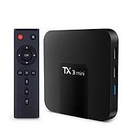 Android Tivi Box TX3 Mini Phiên Bản 2GB Ram Và 16GB Bộ Nhớ Trong, Chuột không dây SANNY MS300,Lót chuột...