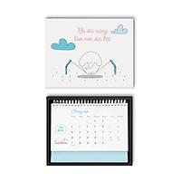 Hộp quà Lịch bàn SDstationery - Lịch con voi 2020 TƯƠI KHÔNG CẦN TƯỚI (mẫu hộp ngẫu nhiên)