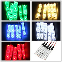 5PCS 3528 SMD Red/Green/Blue/White 3LED Strip Light IP65 DC 12V Car Lamp IP65