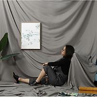 Phông vải đơn sắc màu xám 2.9x5m