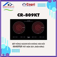 Bếp Điện Cảm Ứng Hồng Ngoại Đôi Capri CR-809KT - Hàng Chính Hãng, Công Nghệ Tiên Tiến Châu Âu, Tiết Kiệm Điện
