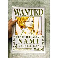Poster One Piece Nami Mới Nhất, Poster Lệnh Truy Nã Nami (Hình dán tường tiện lợi, Chất lượng Full HD)