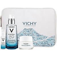Bộ 4 Sản Phẩm Dưỡng Chất (Serum) Khoáng Núi Lửa Cô Đặc Vichy Mineral 89 Giúp Da Sáng Mịn Và Căng Mượt